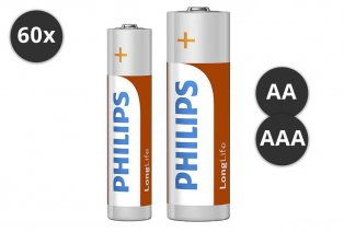 AA oder AAA Philips-Batterien