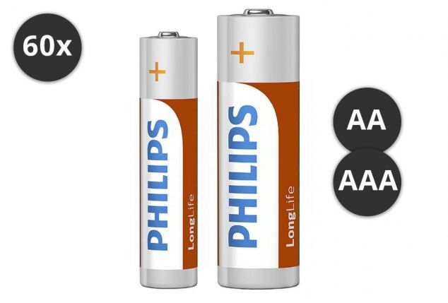 aa oder aaa philips batterien outspot. Black Bedroom Furniture Sets. Home Design Ideas