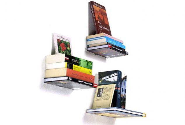 mensole invisibili per libri outspot