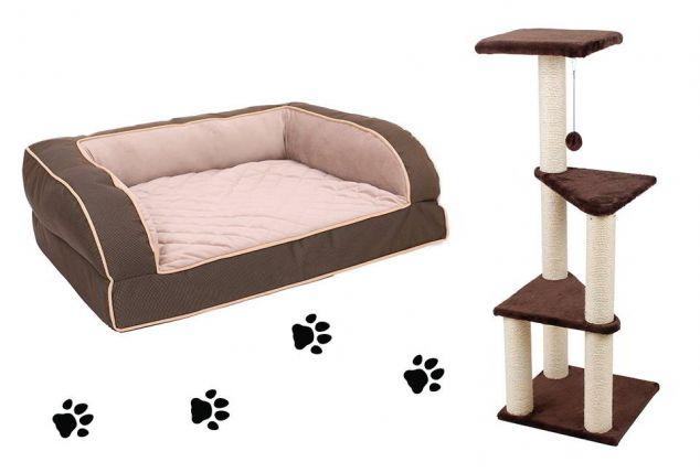 arbre chat ou panier pour chien outspot. Black Bedroom Furniture Sets. Home Design Ideas