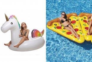 Flotador inflable: porción de pizza o unicornio