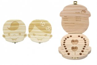 Caja de dientes de madera