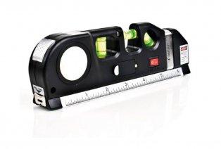Multifunctionele waterpas met laser, liniaal en rolmeter