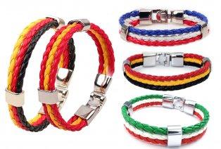 Bracelets en similicuir à l´effigie de la Coupe du monde de football