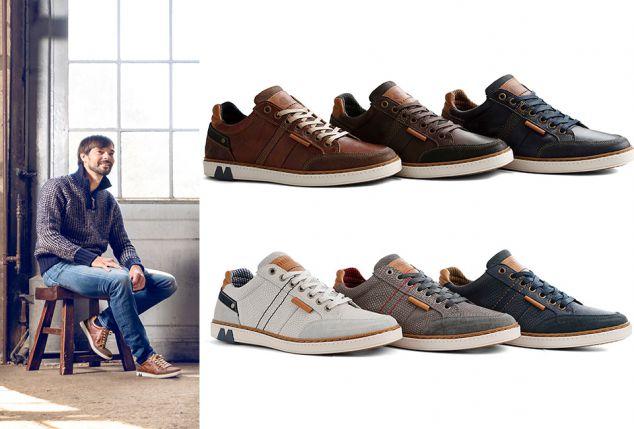 0d3d090b7aa Sneakers sportives en cuir pour hommes