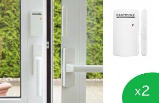 Kabelloses Alarmsystem für Türen und Fenster mit 2 Sensoren