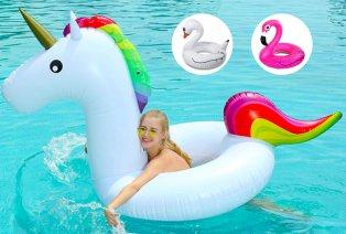 Opblaasbare zwemband: flamingo, eenhoorn of zwaan