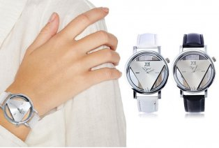 Montre pour dames au design triangulaire