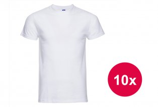 Set bestehend aus zehn weißen T-Shirts