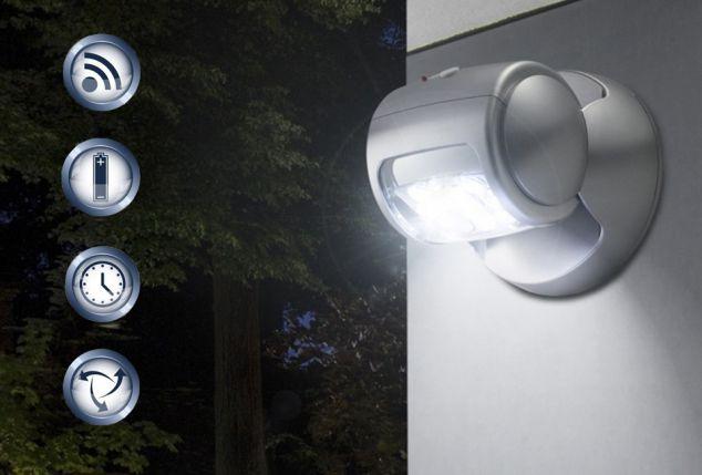 Draadloze verstelbare ledbuitenlamp met sensor
