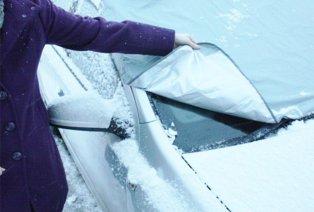 Magnetic anti-freeze windscreen protector