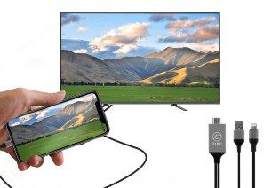 HDMI-Kabel zum Verbinden Ihres Smartphones mit Ihrem Fernsehgerät