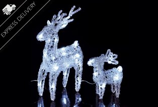 Set de 2 renos de Navidad