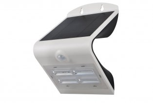 Solar-powered LED wall lamp with motion detector