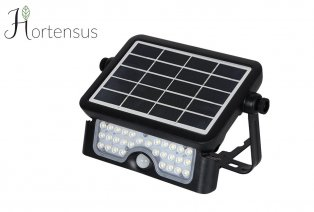 Solar LED outdoor lamp with motion detection