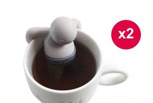 Set da due simpatici filtri da tè