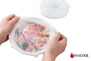 Set de 12 tapas de silicona reutilizables