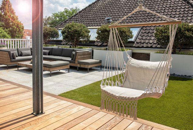 Comfortabele hangstoel voor binnen- en buitenshuis