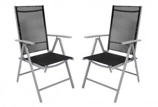 Set aus 2 Gartenstühlen aus Aluminium