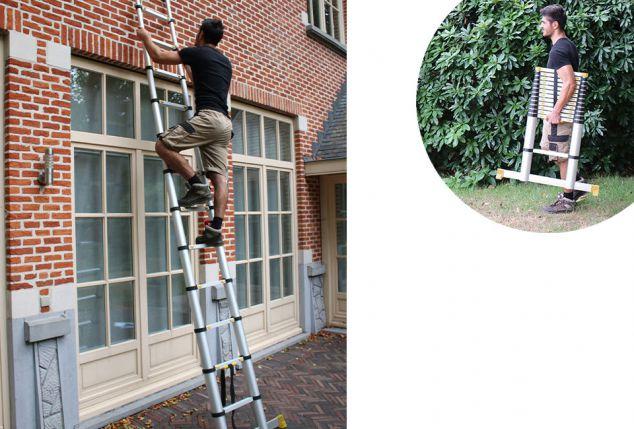 Praktische uitschuifbare ladder