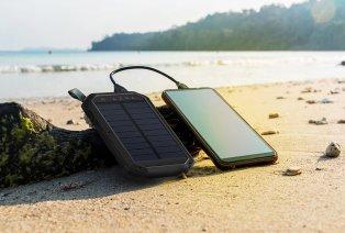 Batterie externe à l'énergie solaire