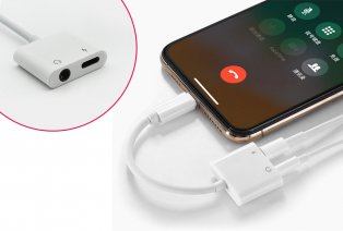 Audio en Lightning splitter voor iPhone