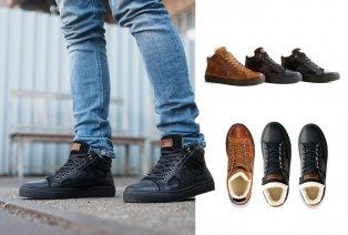 Sneaker aus Leder