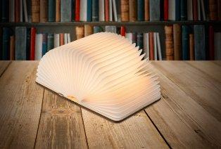 Lampada libro pieghevole con luce LED