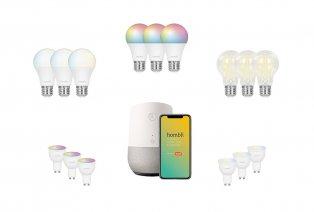 Set aus 3 schlauen Lampen oder Spotts