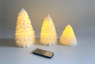 Bougies de Noël avec éclairage LED