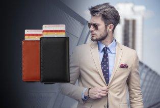 Custodia porta carta con tecnologia anti-RFID