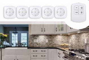 Set of 5 or 10 wireless LED spots