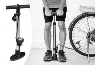 Pompe à vélo avec manomètre