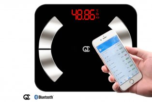 Schlaue Personenwaage mit Bluetooth-Funktion