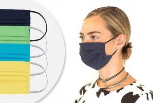 Set: 5 schöne, wiederverwendbare Mundschutzmasken