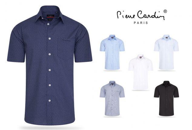 Pierre Cardin Camisa de manga corta para hombre