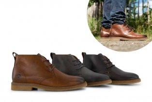 Zapatos de cuero de tacón medio para hombre