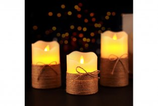 Set de 3 velas LED