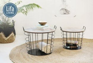 Set de 2 tables d'appoint Lifa Living