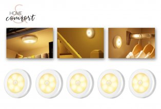 Set di 5 o 10 faretti a LED senza fili con sensore di movimento