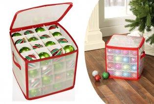 Boîte de rangement pratique pour boules de Noël