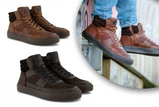 Lederen halfhoge sneakers