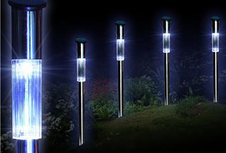 6 x sfeervolle led tuinverlichting op zonne energie